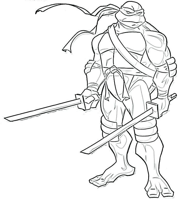706x768 Ninja Turtles Coloring Pages Raphael Beautiful Donatello Ninja