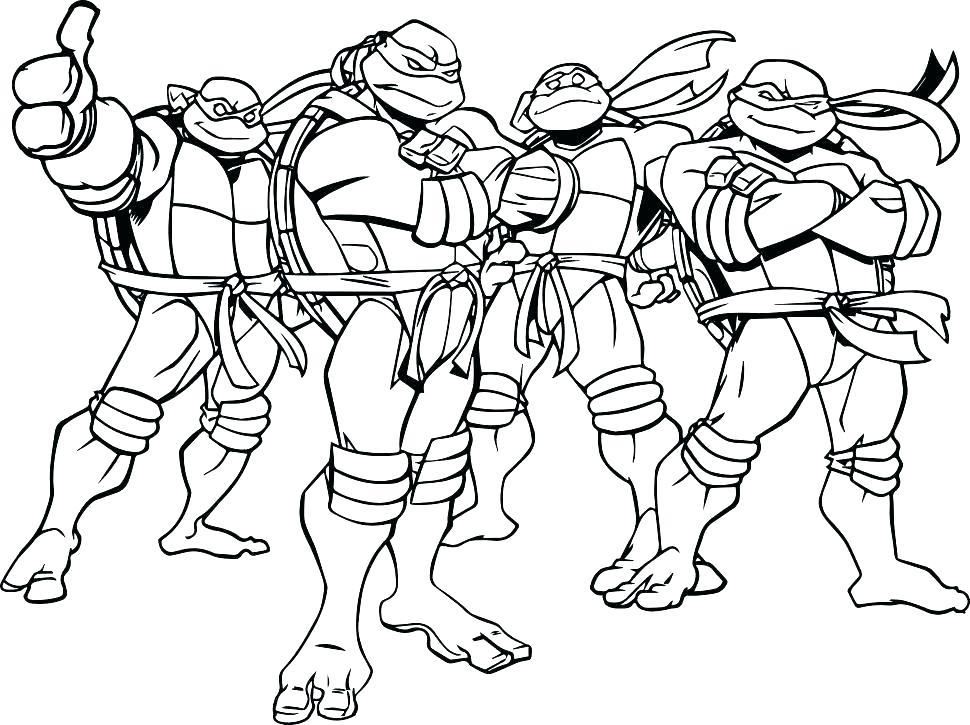 970x725 Ninja Turtles For Coloring Cute Coloring Teenage Mutant Ninja