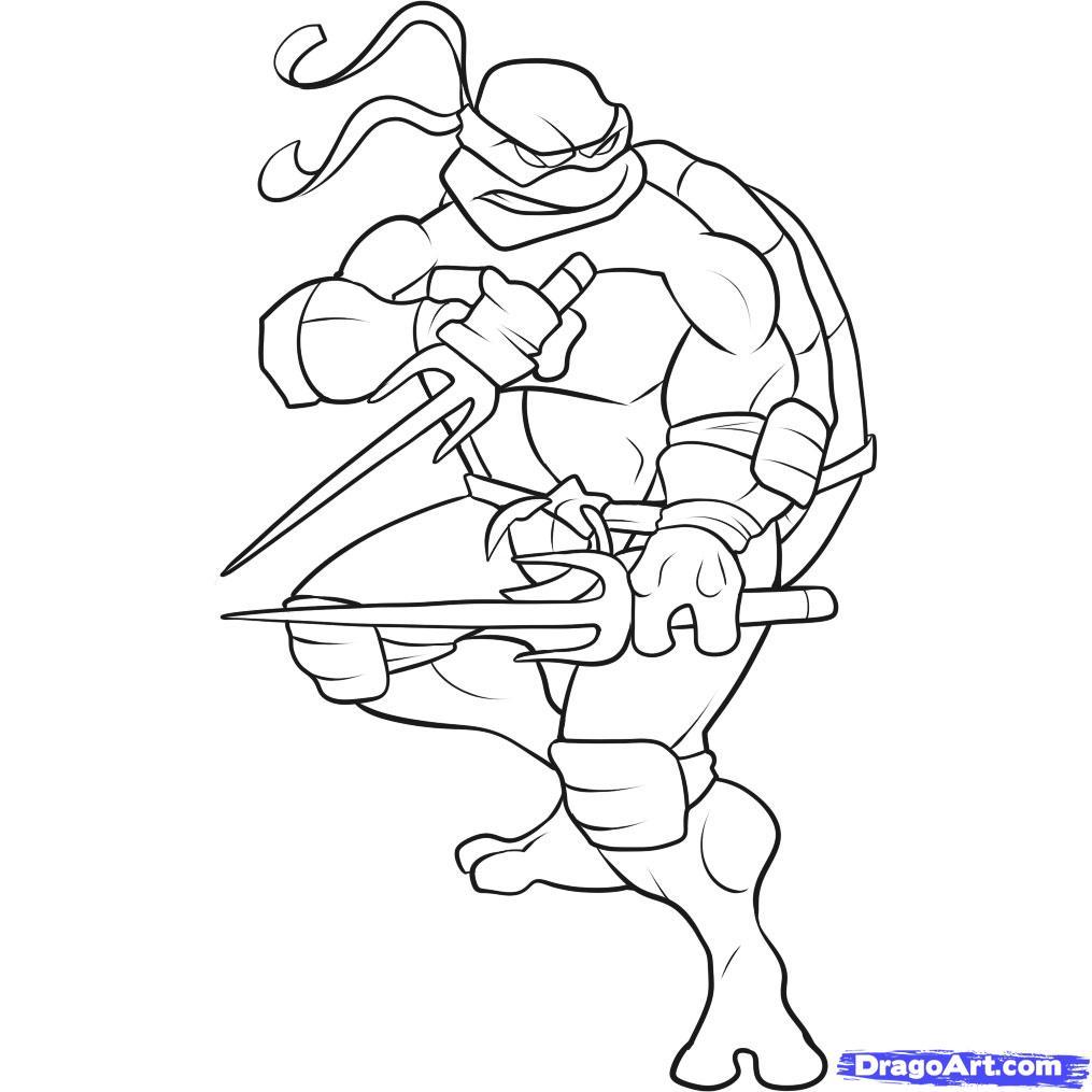 Teenage Mutant Ninja Turtles Coloring Pages Raphael At Getdrawings