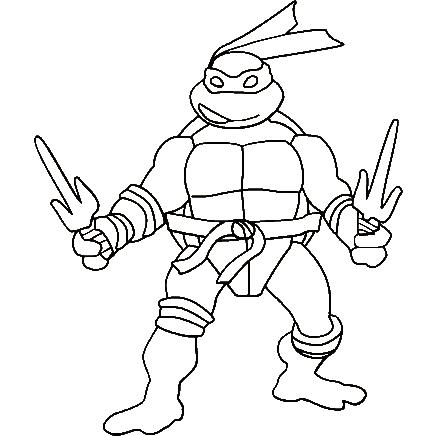 436x436 Teenage Mutant Ninja Turtles Coloring Pages