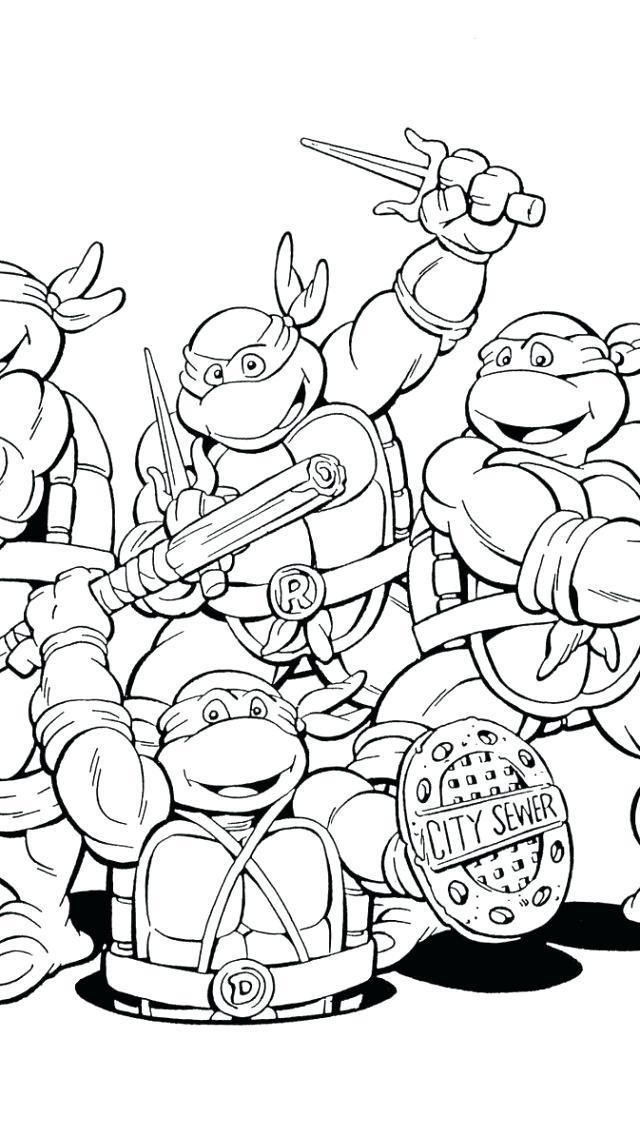 640x1136 Teenage Mutant Ninja Turtles Coloring Pages Raphael Teenage Mutant