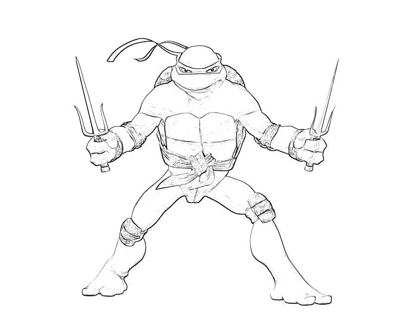 800x667 Teenage Mutant Ninja Turtles Raphael Coloring Pages Teenage Mutant