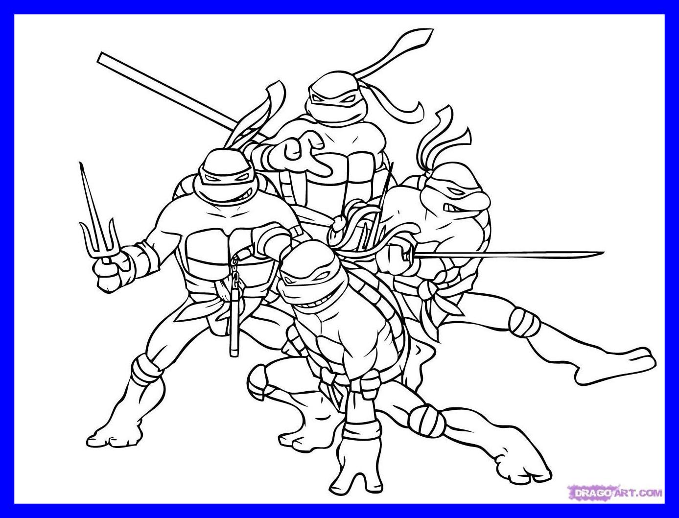 1387x1058 Fascinating Teenage Mutant Ninja Turtles Coloring Printable