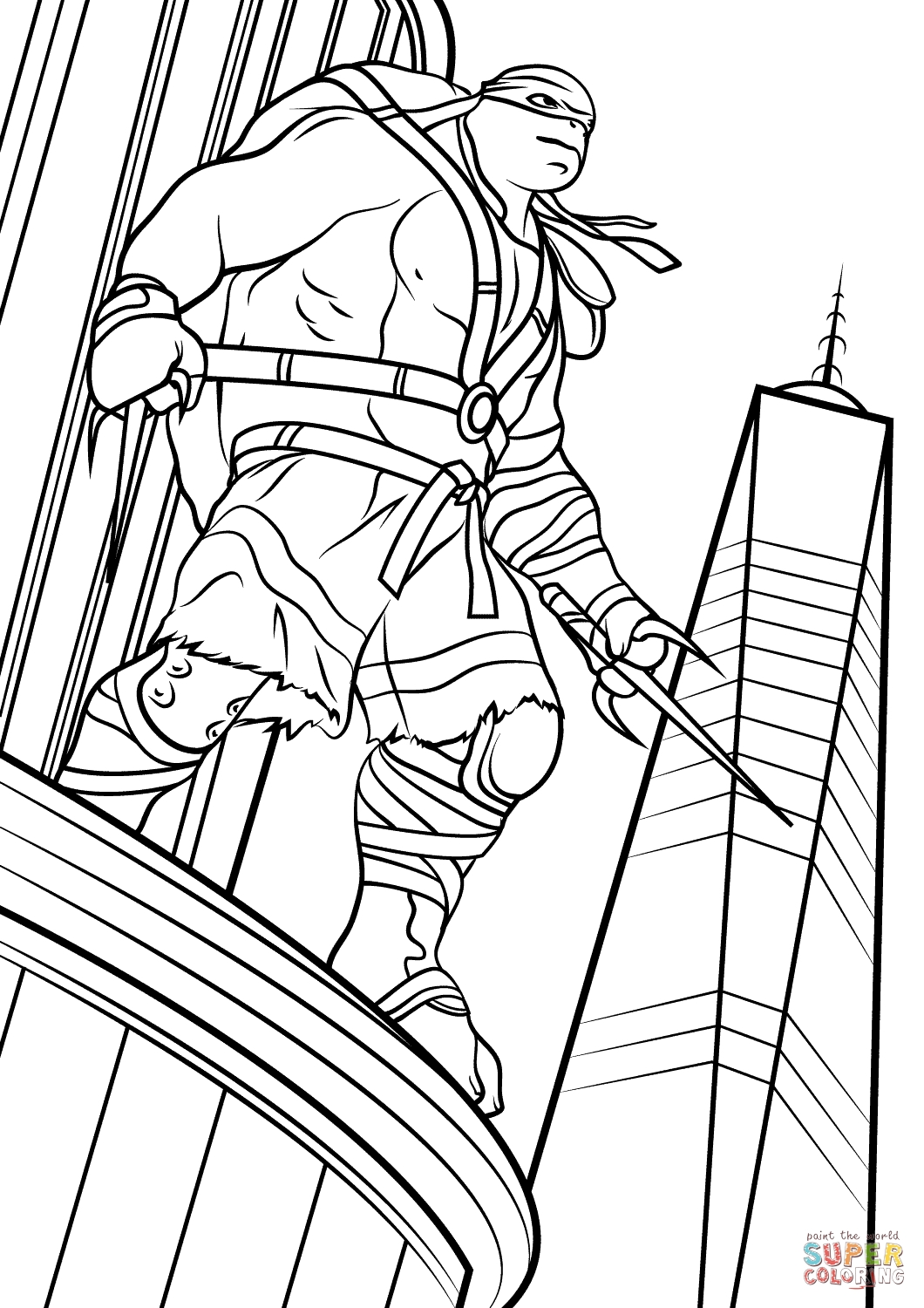 1060x1500 New Teenage Mutant Ninja Turtle Coloring Pages Raph Collection