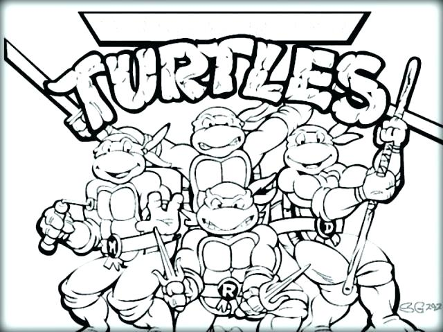 640x479 Ninja Turtle Coloring Pages Teenage Mutant Ninja Turtles Coloring