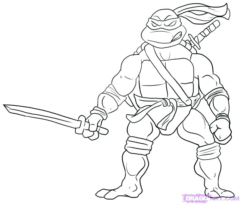 800x681 Color Teenage Mutant Ninja Turtles Games Printable Coloring