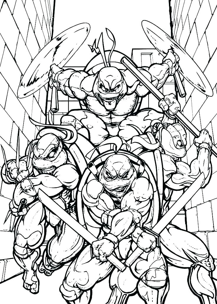 736x1031 Teenage Mutant Ninja Turtles Coloring Pages Enjoy Coloring Teenage