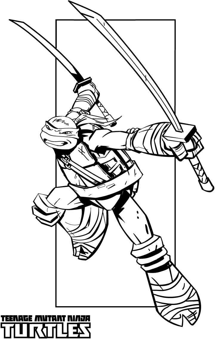 724x1137 Teenage Ninja Turtles Coloring Pages
