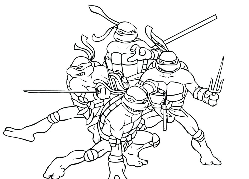 1024x738 Coloring Pages Ninja Turtles Teenage Mutant Ninja Turtles Coloring