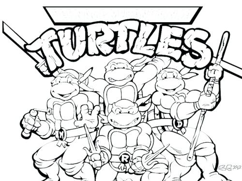 500x374 Crafty Ninja Turtles Coloring Pages Free Printable On Art