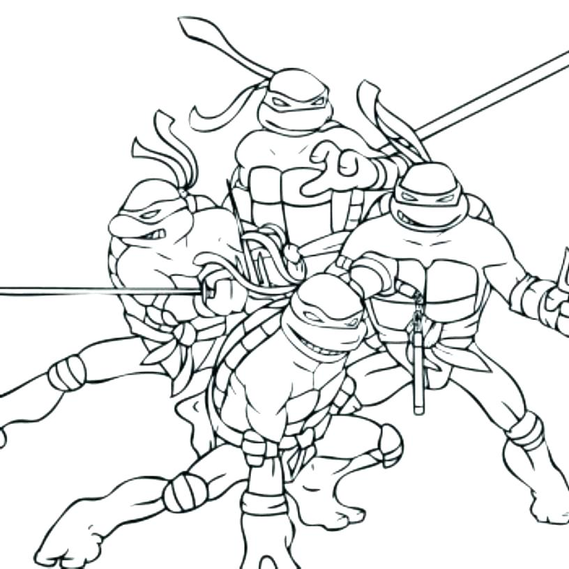 816x816 Ninja Turtles Coloring Sheets Raphael Ninja Turtle Coloring Pages