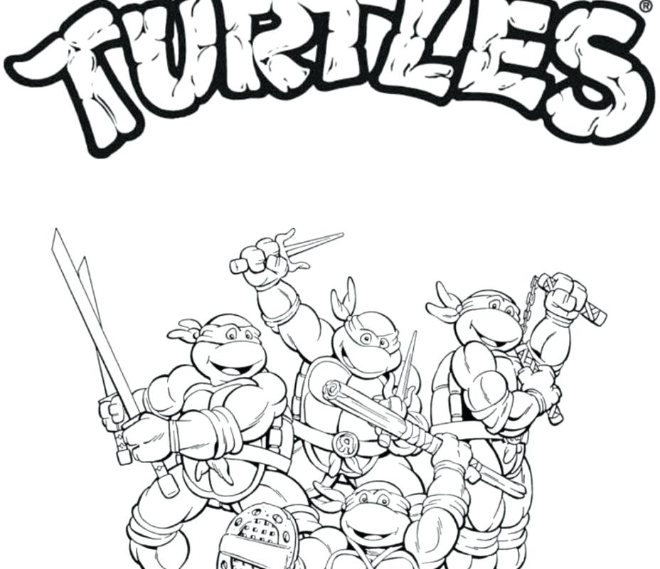 928x800 Teenage Mutant Ninja Turtles Coloring Pages For Kids Fantastic