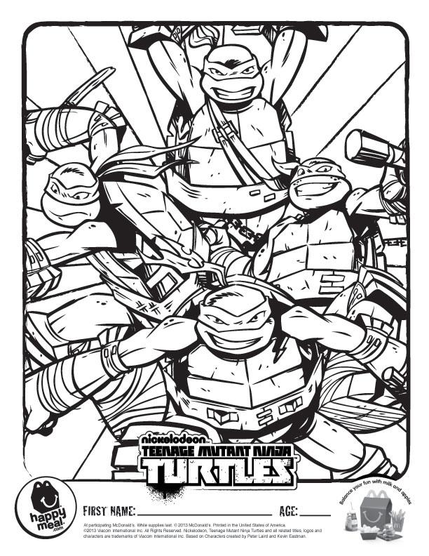 612x792 Nickelodeon Teenage Mutant Ninja Turtles Coloring Pages