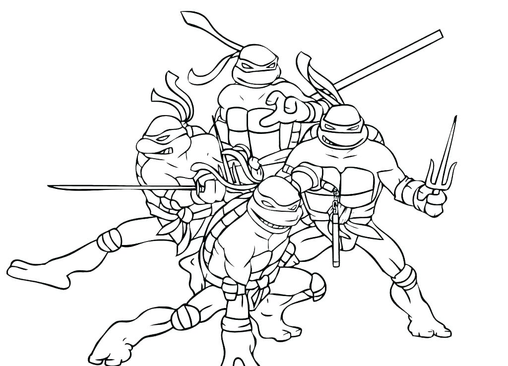 1024x738 Ninja Turtle Coloring Pages Ninja Turtle Coloring Pages Teenage
