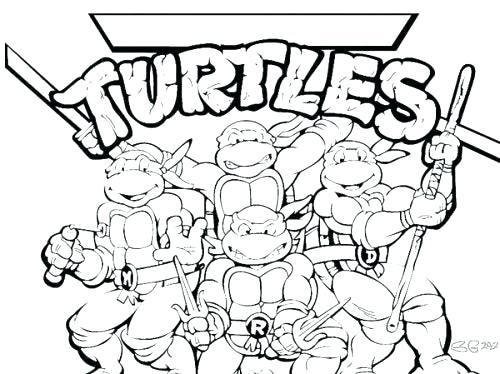 500x374 Ninja Turtle Michelangelo Color Coloring Pages Teenage Mutant