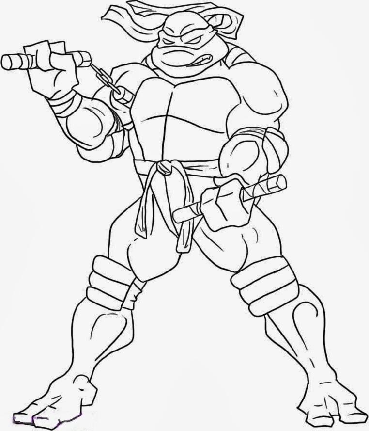 762x889 Ninja Turtles Michelangelo Coloring Picture For Kids Teenage