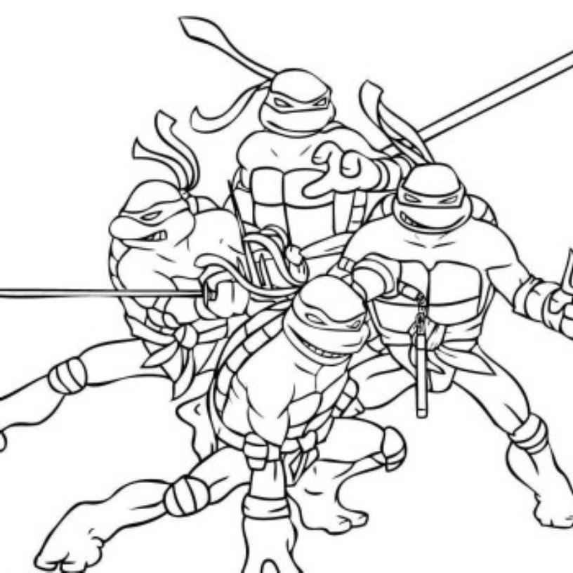 816x816 Teenage Mutant Ninja Turtles Coloring Pages