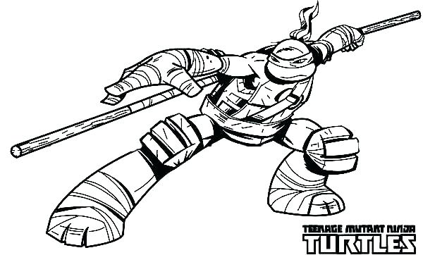 600x362 Michelangelo Ninja Turtle Mask Color Turtles Coloring Page Sapia