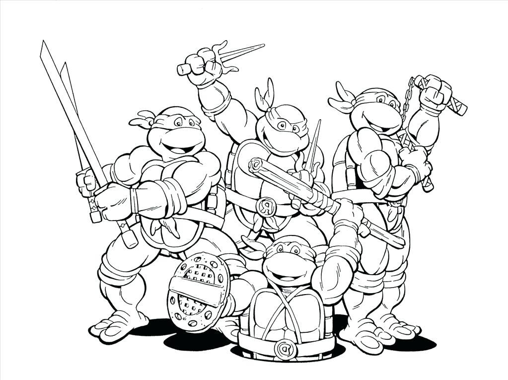 1023x765 Ninja Turtle Colouring Pages Great Teenage Mutant Ninja Turtle