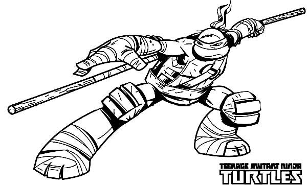 600x362 Teenage Mutant Ninja Turtles Raphael Coloring Pages