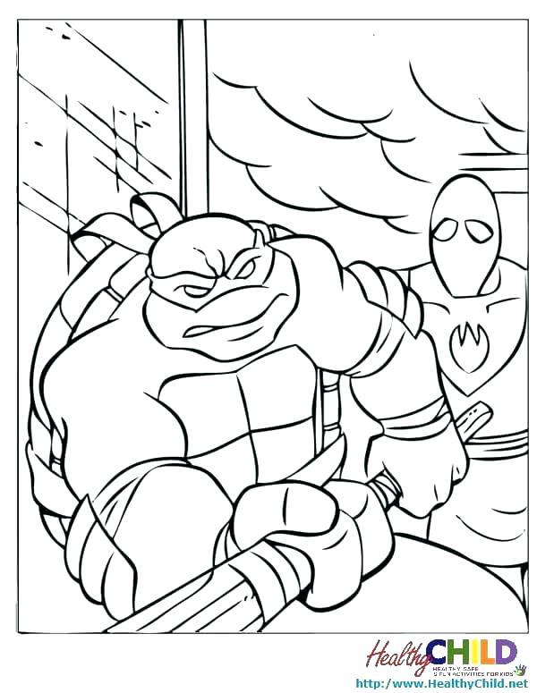 600x775 Teenage Mutant Ninja Turtles Donatello Coloring Pages