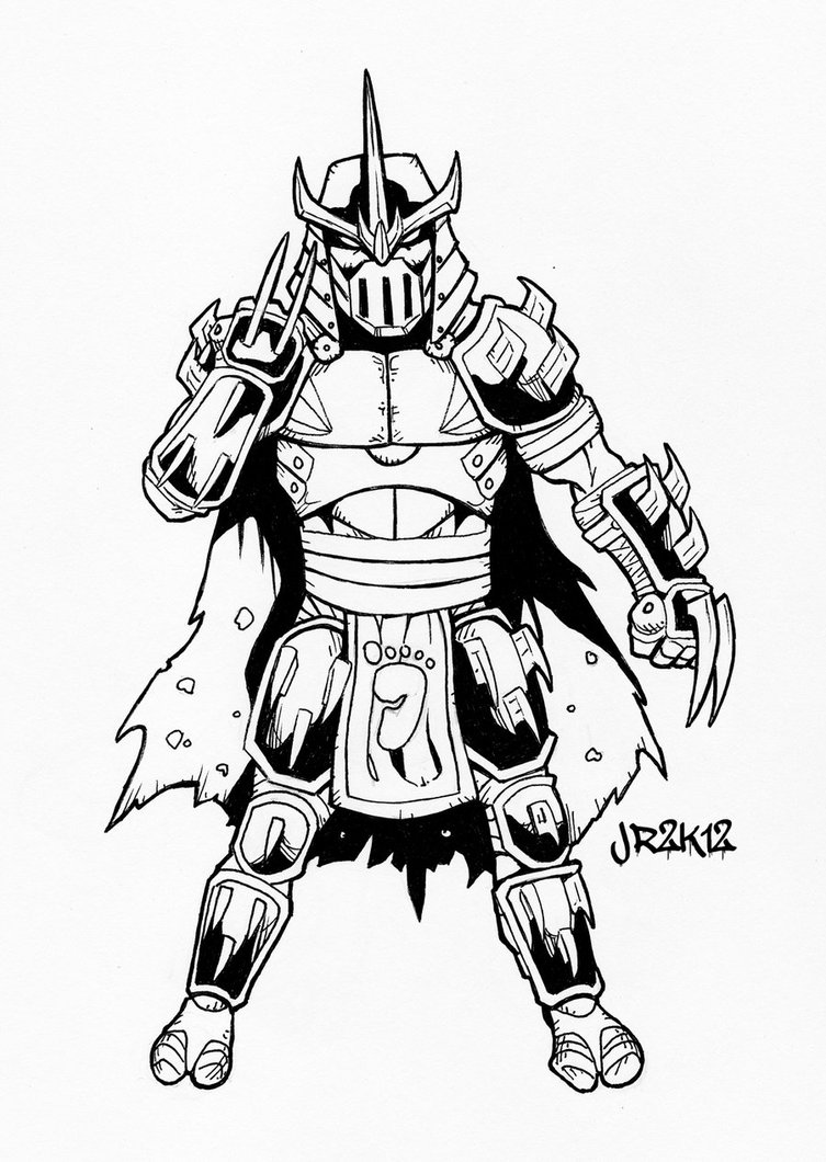 753x1060 Tmnt Shredder Coloring Pages