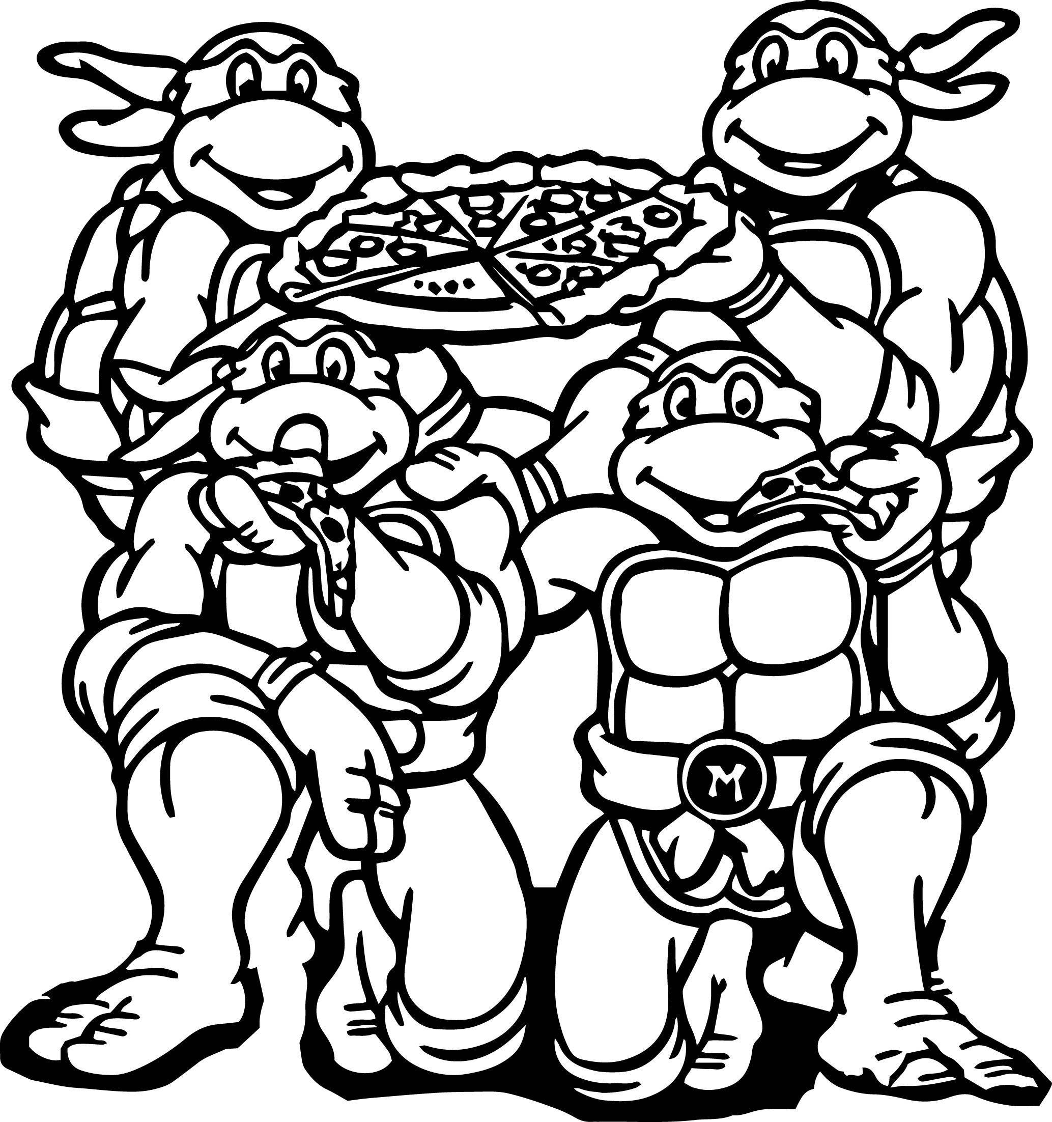 2067x2204 Teenage Mutant Ninja Turtle Coloring Pages Page Turtles Nick
