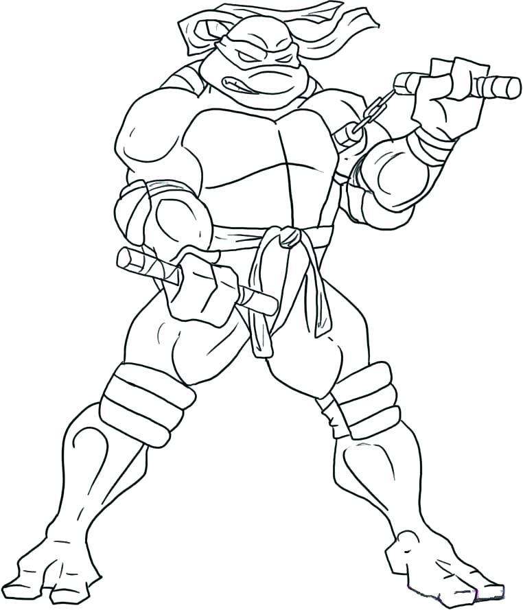 762x889 Teenage Mutant Ninja Turtles Coloring Pages On Coloring Ninja