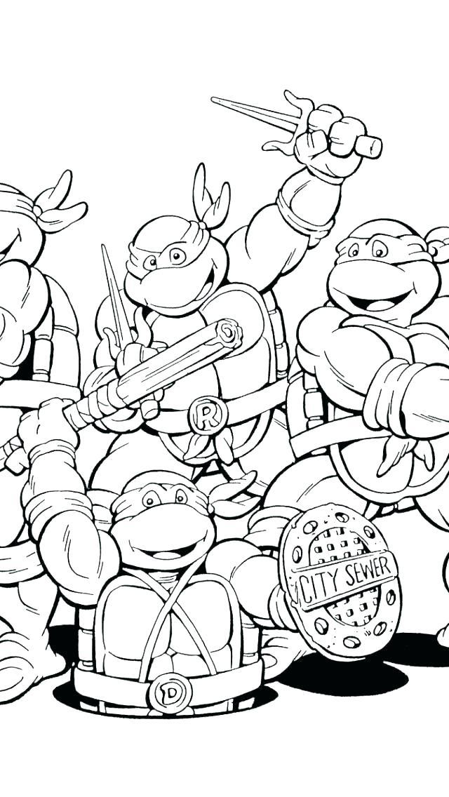 640x1136 Teenage Mutant Ninja Turtles Coloring Pages Printable Shredder