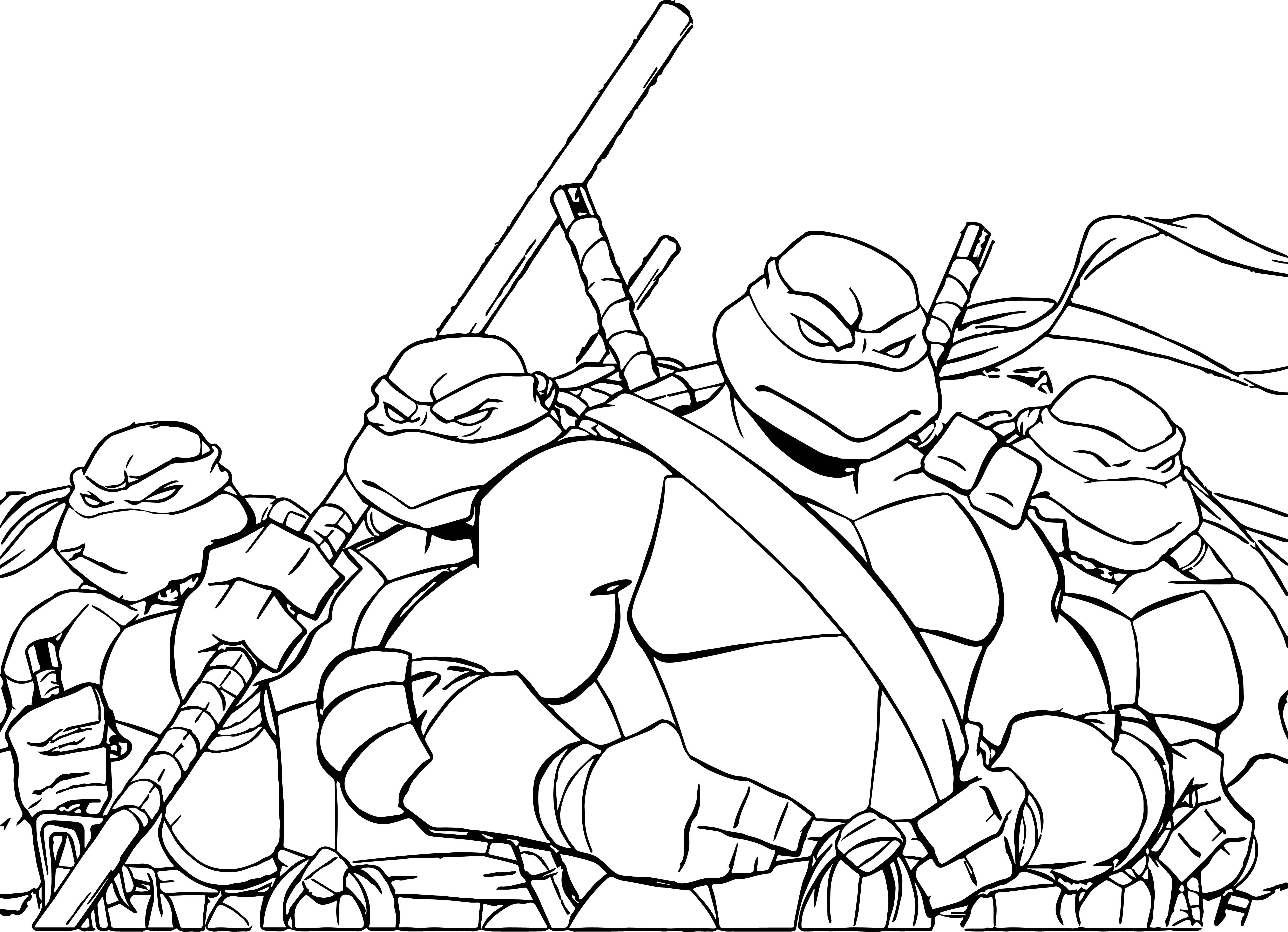 6250x4524 Terrific Raphael Coloring Page Incridible Teenage Mutant