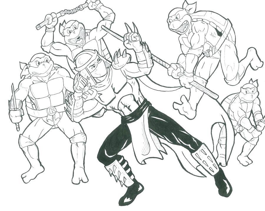 900x716 Teenage Mutant Ninja Turtles Coloring Pages