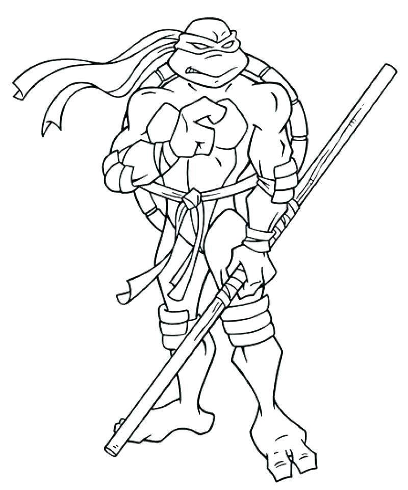 800x960 Good Teenage Mutant Ninja Turtle Coloring Pages Image Unknown Good