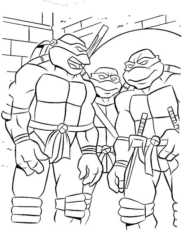Teenage Ninja Turtles Coloring Pages