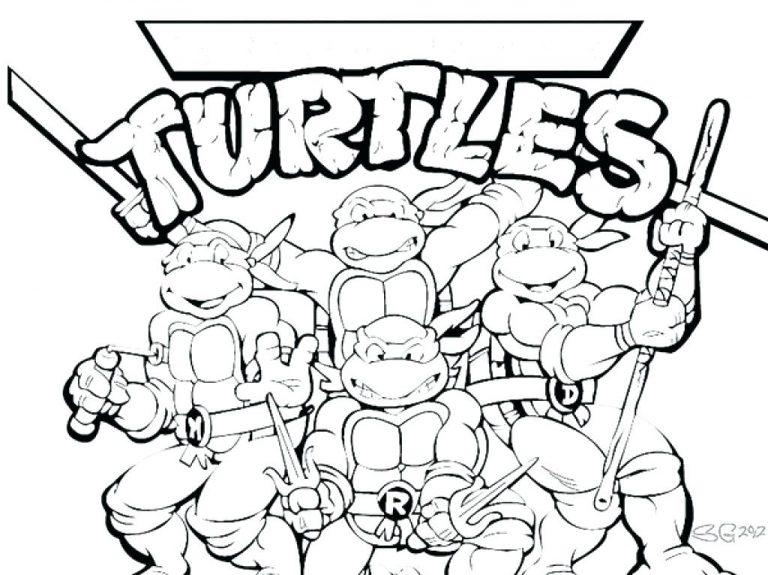 768x575 Ninja Turtle Coloring Pages Michelangelo Best Of Ninjas Turtles