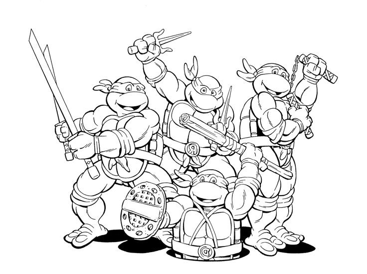 736x549 Pictures Of Teenage Mutant Ninja Turtles Colouring Pages