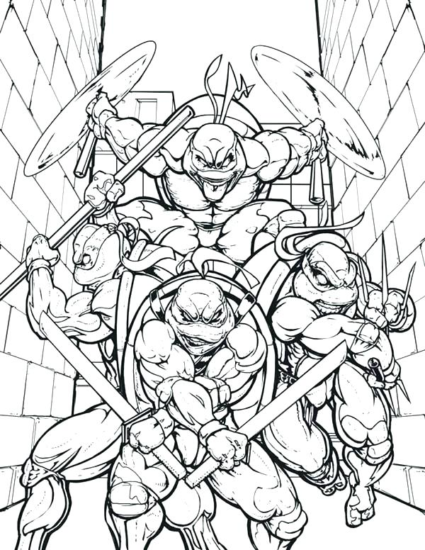 600x776 Turtle Color Pages Ninja Turtles Coloring Pages Breathtaking Color