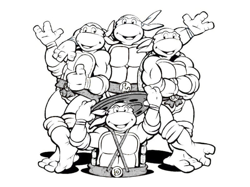 800x600 Mutant Ninja Turtles Coloring Pages