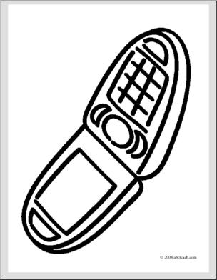 304x392 Clip Art Basic Words Phone
