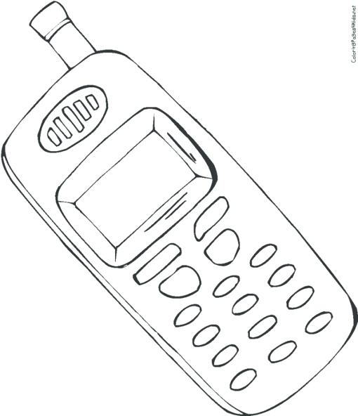 510x592 Phone Coloring Page Is On Telephone Coloring Page Free Number
