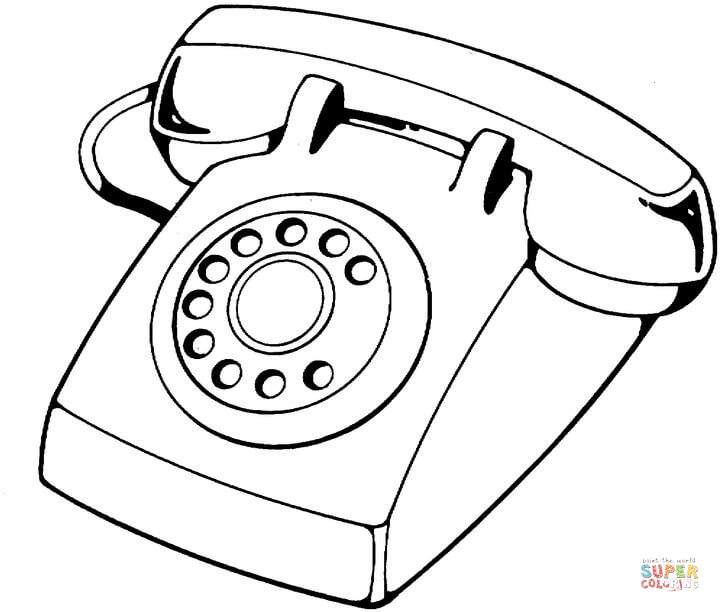 720x612 Telephone Coloring Pages Telephone Device Coloring Page Free