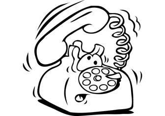 336x237 Telephone Coloring Pages Pictures