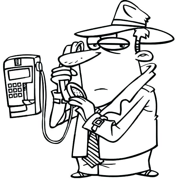 600x630 Phone Coloring Page