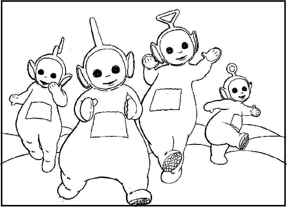 968x700 Singing Teletubbies Coloring Picture For Kids Teletubbies Work