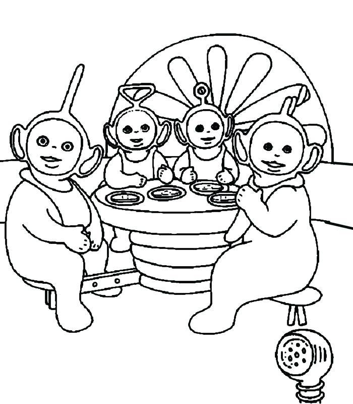 700x800 Teletubbies Coloring Page Pages Book Laa Coloring Collection