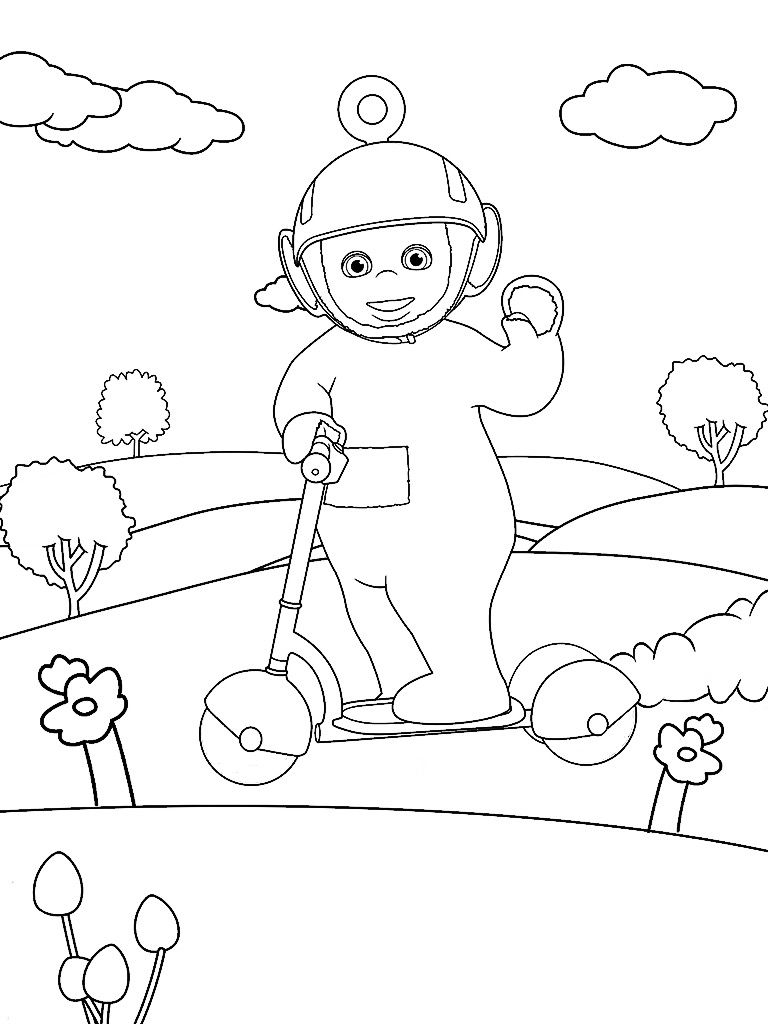 768x1024 Awesome Teletubbies Coloring Pages Design Printable Coloring Sheet