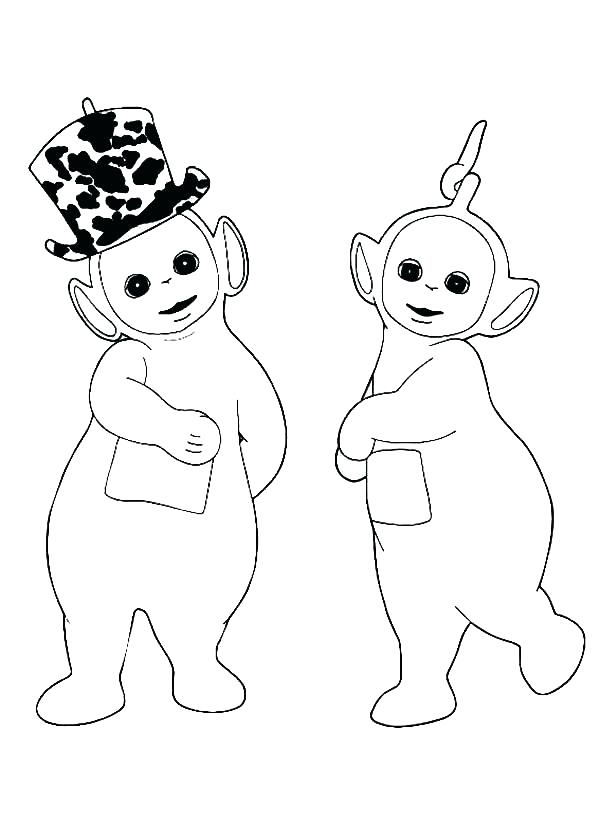 600x840 Teletubbies Coloring Pages Teletubbies Coloring Page Love New Hat
