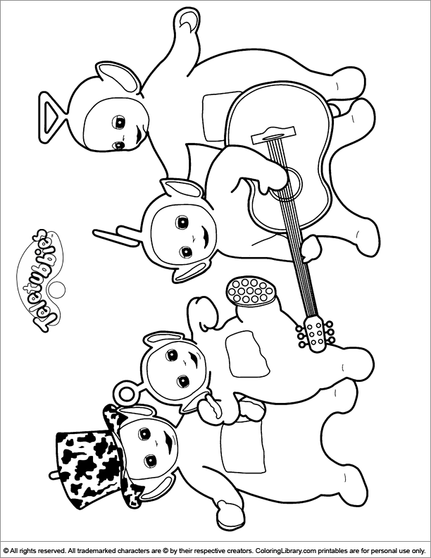 612x792 Teletubbies Coloring Picture