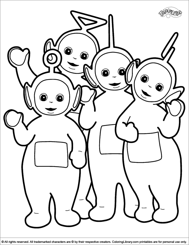 612x792 Teletubbies Coloring Page Teletubbies Work