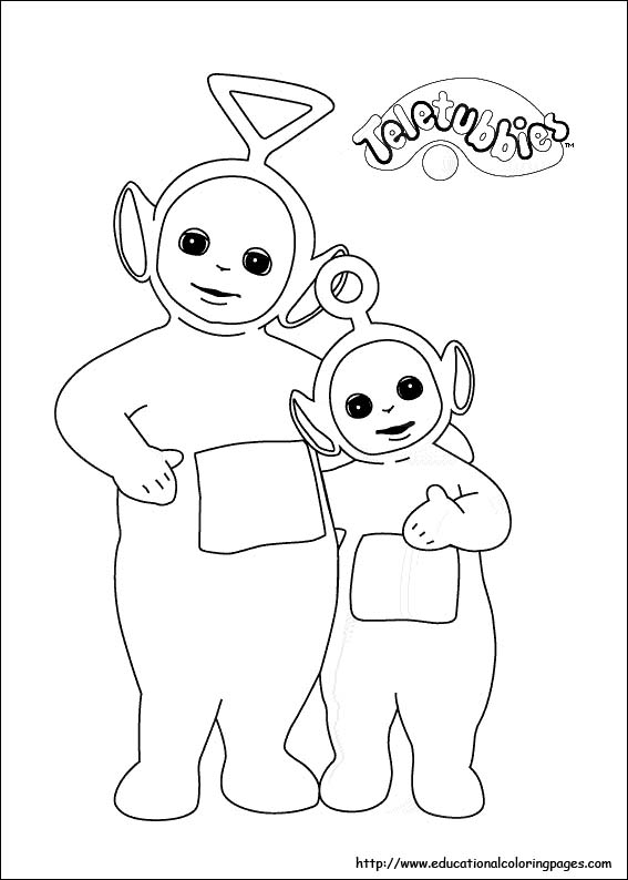 567x794 Teletubbies Coloring Pictures