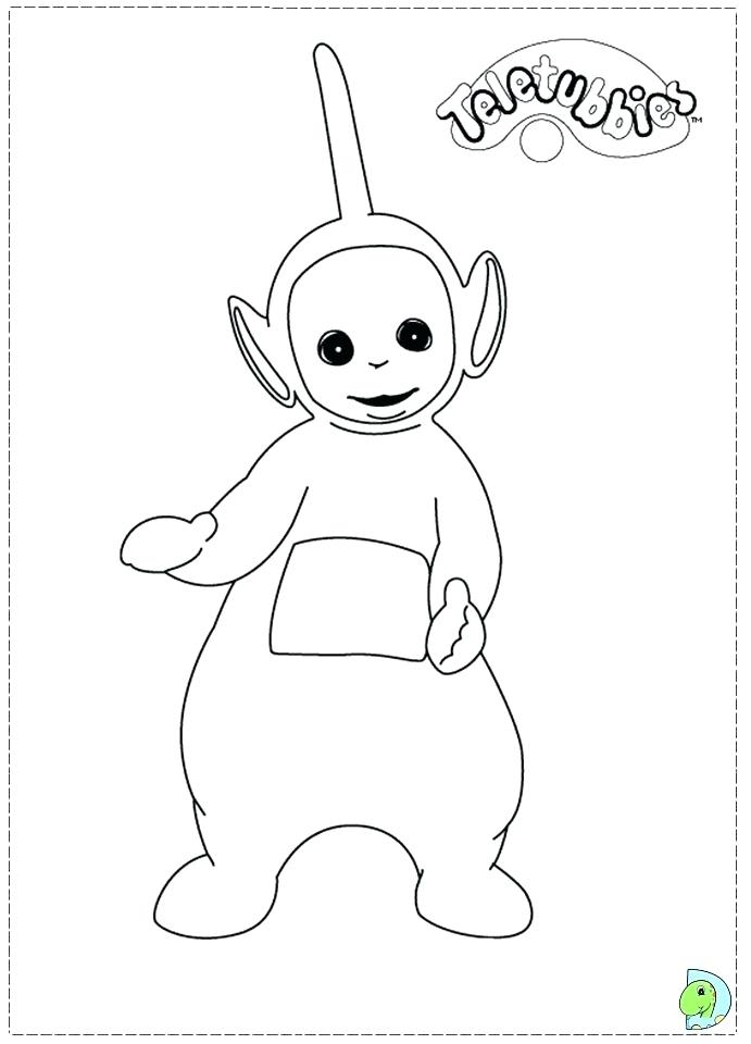 691x960 Teletubbies Coloring Page